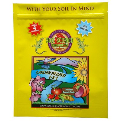 Soil Science Products 888-4 4 Lb Garden Wizard 8-8-8