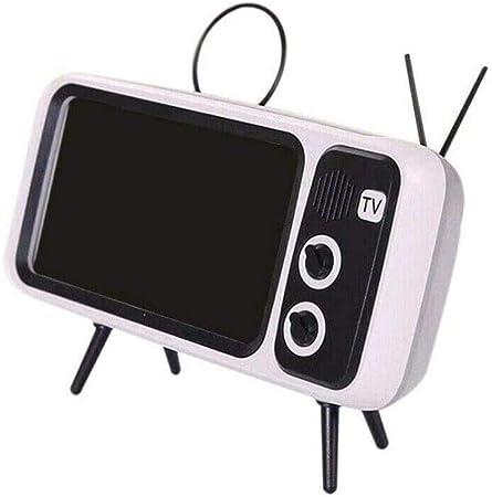 FANLIU Mini Altavoz Portátil Bluetooth, Soporte for teléfono casero Retro TV Diseño móvil de Radio de FM Altavoz estéreo 3D Ranura de Tarjeta de Apoyo TF Calidad de Sonido Compatible con Dispositivos: