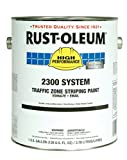 Rust-Oleum 2391300 High Performance 2300 System Traffic Zone Striping Paint, Low VOC, 5-Gallon, White