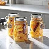 Ball, Smooth-Sided Glass Mason Jars with Lids