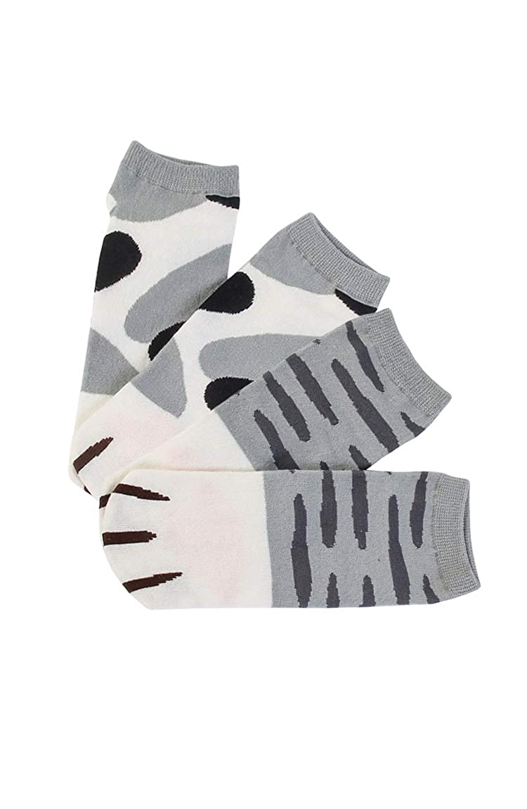 BOFETA Womens Cute Kitty Cat Paws Socks with Paw Prints on Toes