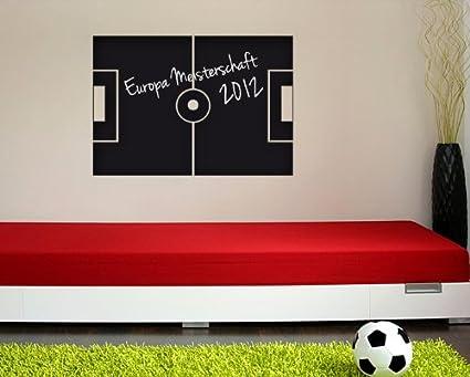 Bilderdepot24 foglio lavagna campo da calcio inclusivo di 2 gessetti