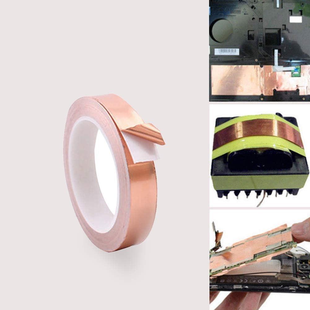 rycnet Ruban adh/ésif conducteur Isolant Thermique en cuivre 5 mm x 20 m