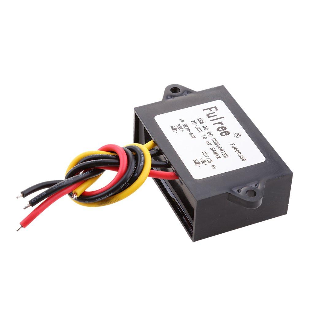 Sharplace DC Convertisseur De Tension Retournement Step Down 6V 8A 48W Voltage Module