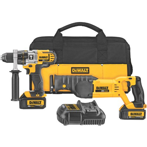 DEWALT-DCK292L2-20-Volt-MAX-Li-Ion-30-Ah-Hammer-Drill-and-Reciprocating-Saw-Combo-Kit