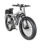 519AaXJm19L. SS150 Extrbici XF800 Bici Elettrica Mountain Bike 750W 48V 13Ah 624Wh BatteriaBici Elettrica 26 Pollici Batteria a 7 Marce Freno Idraulico con Porta di Ricarica USB