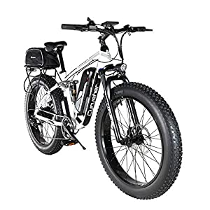 519AaXJm19L. SS300 Extrbici XF800 Bici Elettrica Mountain Bike 750W 48V 13Ah 624Wh BatteriaBici Elettrica 26 Pollici Batteria a 7 Marce Freno Idraulico con Porta di Ricarica USB