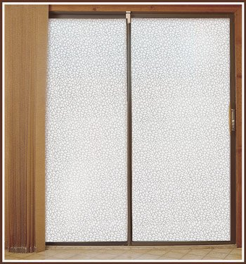 """Pebble 32"""" x 74"""" Privacy Etched Glass Window Film"""