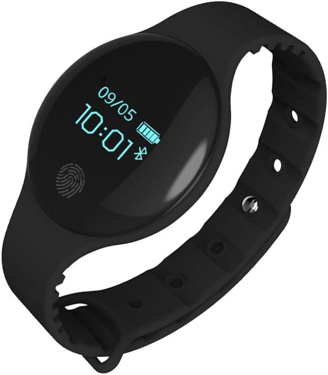 NICERIO Pulsera Inteligente de Reloj H8 de Silicona con Monitor de Sueño Rastreador de Fitness de Salud para Niños (Negro)