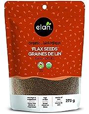 ELAN Organic Flax Seed, Non-GMO, Vegan, Gluten-Free, Kosher, 275g