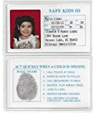 Safe Kids Missing Child ID Cards - Child Safety - Better Than Neckless & Bracelet (5 IDs for This Price)