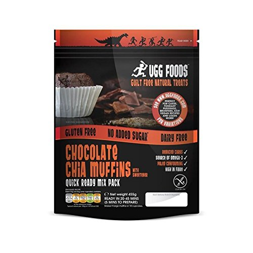 Ugg Chocolate Chia Muffin Mix 455g - Pack of 6 by Ugg Foods