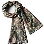 YAOBAO Filet De Camouflage, Filet Tactique en Filet Camo Écharpe Sniper Voile, Camouflez Votre Cou, Votre Visage Et… 8