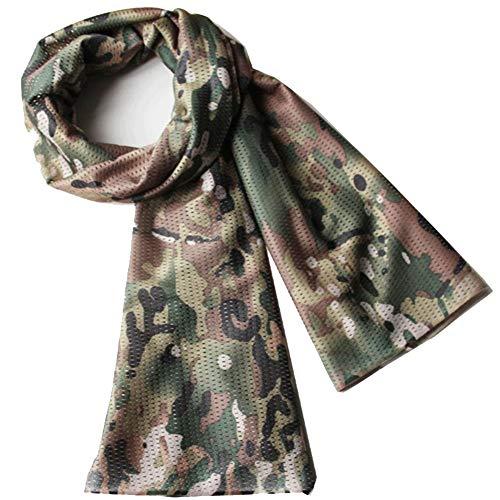 YAOBAO Filet De Camouflage, Filet Tactique en Filet Camo Écharpe Sniper Voile, Camouflez Votre Cou, Votre Visage Et… 1