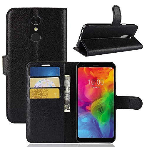 Lapinette Custodia cover portafoglio per LG Q7 Nero wz-WAL-LG-Q7-NOIR