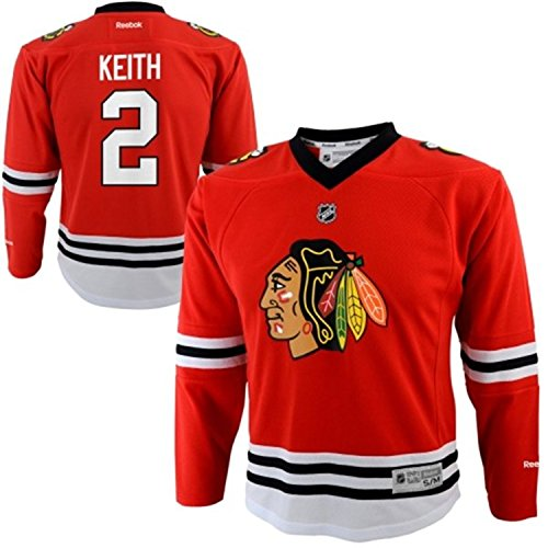 Chicago Blackhawks Ducan Keith #2 Red Toddler's Jersey (4T-7T)