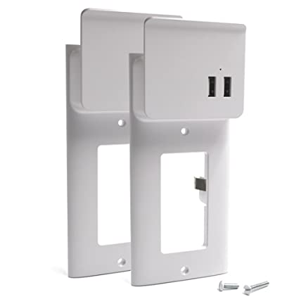 Amazon.com: Enstant USB Outlet Wall Plate DIY Wall Outlets Cover ...