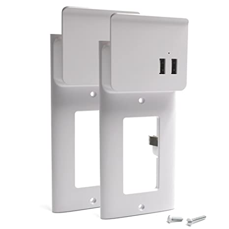 Swell Amazon Com Enstant Usb Outlet Wall Plate Diy Wall Outlets Cover Wiring Digital Resources Bemuashebarightsorg