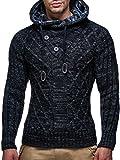 LEIF NELSON Men's Knitted Pullover Hoodie Hooded Sweatshirt LN10346