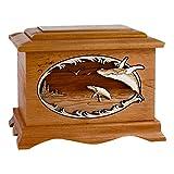 Wood Cremation Urn - Mahogany Whale Ambassador