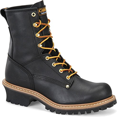 Logger Toe Round Ca825 Boot Men's Carolina Black vxR4qaUZw