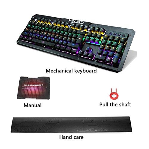 Amazon.com: 2017 HXSJ 2600 LED Backlight USB Ergonomic Gaming Gamer Mechanical Keyboard Affordable Dreamyth (Black): Sports & Outdoors