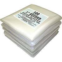 (500) 7 Slim Fit Record Outer Sleeves - 3 Mil Thick Polyethylene - 7 7/16 x 7 1/4 #07SE03