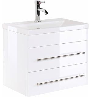 Emotion SUBWAY2-0-65CM000101DE Waschbecken mit Unterschrank, Holz ... | {Waschbecken mit unterschrank weiß 88}
