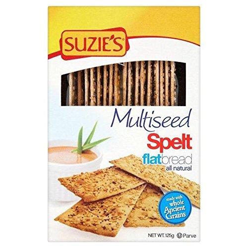 - Suzies Spelt Multiseed Flatbreads - 125g