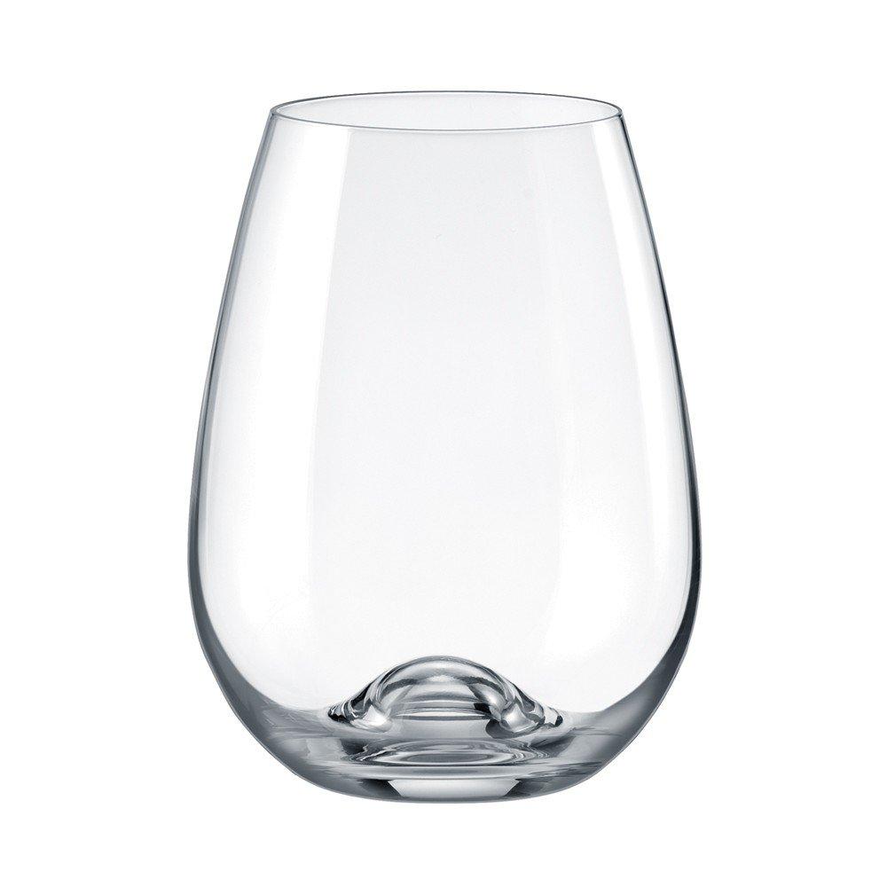 Drinkmaster –  Vin Rouge Cristal sans plomb sans pied en verre, Lot de 6 Rona