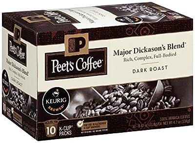 Peet's Coffee Major Dickason's Blend K-Cup Packs, Dark Roast, 10 Count