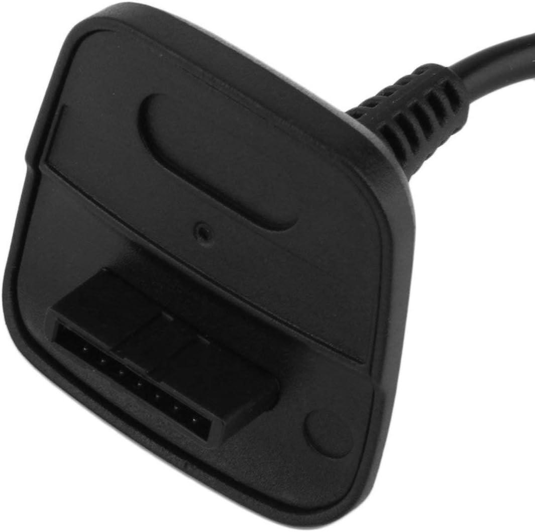 Wireless Controller USB-Ladekabel Ersatz-Ladeger/ät f/ür Xbox 360 Geb/ühr Ihrer Wireless Controller beim Spielen Farbe: schwarz