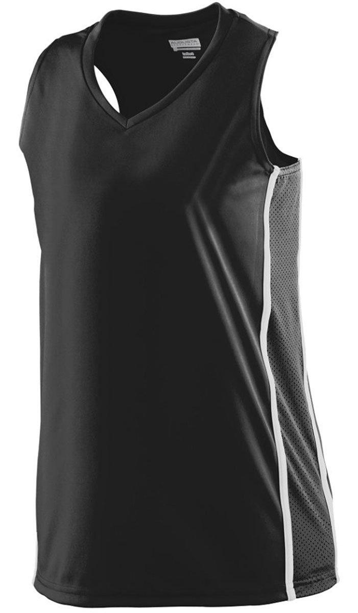 Augusta SportswearレディースWinning Streak Racerback Jersey B00IUJG4BM Medium|ブラック/ホワイト ブラック/ホワイト Medium