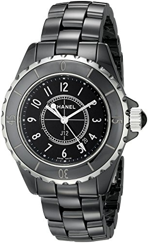 CHANEL Women's J12 Ceramic & Stainless Steel Watch, Black