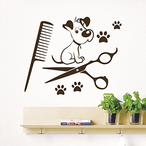 - Ditooms Dog Wall Decals Grooming Salon Pets Decal Pet Shop Decor Vinyl Stickers