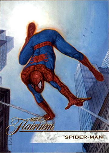 2019 Flair Marvel NonSport #92 Spider-Man SP Short Print Official Entertainment Trading Card From Upper Deck Flairium Tier 1