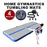 Professional Air Track - Inflatable Gymnastics Tumbling Mat - Practice Gymnastics, Cheerleading, Tumbling, Free Running (Parkour), and Martial Arts - Great For Home, Outdoor, or Gym Use