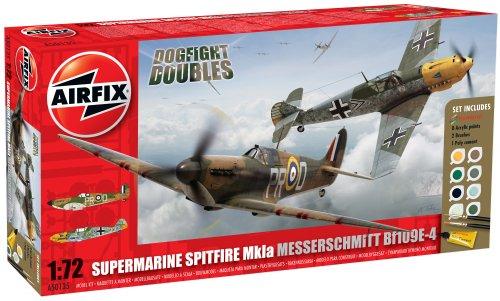Airfix 1:72 Supermarine Spitfire Mk1a/Messerschmitt Bf109E-4 Gift Set (A50135)