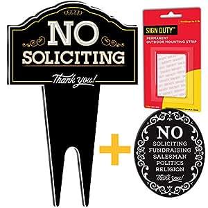 Amazon.com: SignDuty – Cartel de metal para puerta de jardín ...