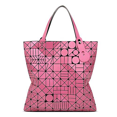 10 * 10 Bolso de hombro de las mujeres bastante ocasional totalizador de estilo geométrico bolso de mano 1 6