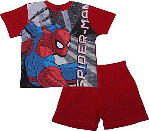 Spiderman Websling Childrens Super Panel Short Sleeve Pyjamas Red 8 Years By BestTrend