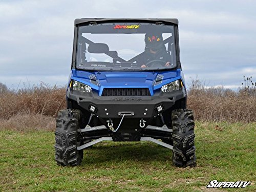 2015-2017 Polaris Ranger 1000 Diesel Crew Fullsize Atlas Pro High Clearance Forward Offset Boxed A-Arms (Black) by Super ATV AA-P-RAN900-1.5-WC-02 by Super ATV