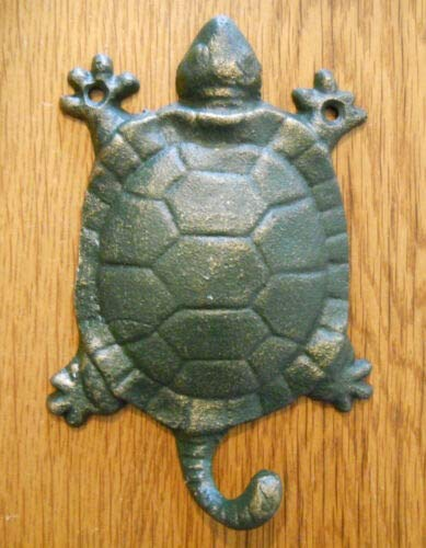 - JumpingLight Cast Iron Antique Style Nautical Turtle Coat Hooks Hat Hook Rack Towel Sea Cast Iron Decor for Vintage Industrial Home Accessory Decorative Gift