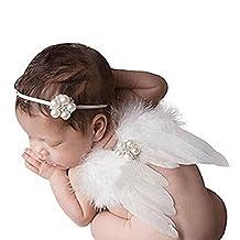 Lucky veut Baby Photo Photographie Tenues fille Costume ailes d'ange vêtements en tricot fait tricoter ailes Costume pour enfants weiß
