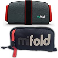 mifold Grab-and-Go Booster Seat and Carry Bag, Slate/Grey