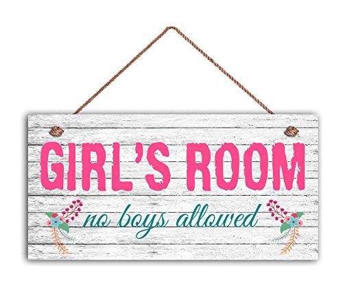 GIRL'S ROOM Sign, No Boys Allowed, Girl's Room Decor, Nursery, Girl's Door Sign, 5