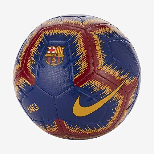 Nike FC Barcelona NK Strike FootBall   Color: Deep Royal Blue/University Gold , Size :5