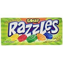 Sour Razzles Candy, 1.4oz Pouches, 24-Count