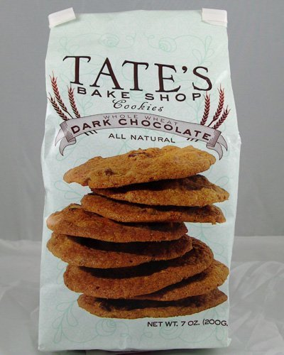 Tate's Bake Shop Cookies - Whole Wheat Dark Chocolate - All Natural - Each Bag is 7 Ounces (Pack of 12)