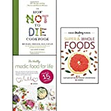 img - for how not to die cookbook, hidden healing powers of super & whole foods and healthy medic food for life 3 books collection set - 100+ recipes to help prevent and reverse disease book / textbook / text book